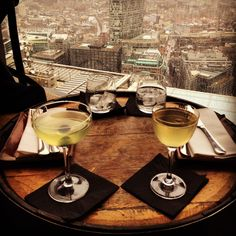 There's a dedicated entrance for the restaurants in Heron Tower, from where a glass lift will whizz you in seconds up to Duck & Waffle on the 40th floor,...