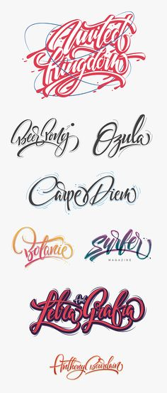 Great Lettering Examples! Perfectly crafted... I love good examples of different graffiti letters styles (so inspiring!)- real pleasure for Lettering lovers ;)