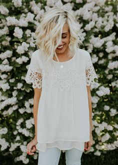 Vanilla Lace Top | ROOLEE