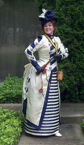 Me wearing my interpretation of the 1885 Nautical suit at the Steampunk World's Fair in New Jersey 2011