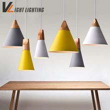 colorful pendant lighting. us 2184 modern pendant lights real woodenaluminum colorful lamps for restaurant coffee bar lighting
