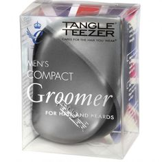 Tangle Teezer Men's Compact Groomer For Hair and Beards. Hair You Wear, Massage Relaxant, Compact, Detangling Hair Brush, Tangled Hair, Best Brushes, Wet And Dry, Dry Hair, Things To Come