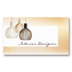 Elegant Modern Pattern Pea Green Interior Design Business Card
