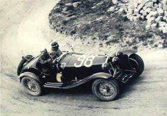 Tazio Nuvolari at the Mille Miglia 1933