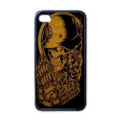 New Gold Skull Metal Mulisha Apple iPhone 4 / iPhone 4S Case Cover
