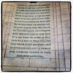 Engraved on the Jefferson Memorial.
