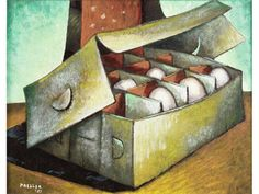 View Egg Box by Alexis Preller on artnet. Browse upcoming and past auction lots by Alexis Preller. Still Life, Eggs, African, Artist, Boxes, Painting, Egg, Painting Art, Box