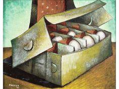 Alexis Preller (1911-1975) - Egg Box, 1951