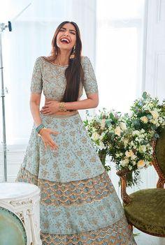 Wedding Indian Lengha Mint Green 40 Ideas For 2019 Party Wear Lehenga, Bridal Lehenga Choli, Ghagra Choli, Red Lehenga, Anarkali, Lehenga Wedding, Designer Lehnga Choli, Floral Lehenga, Wedding Hijab