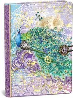 Indian Peacock Button Closure Journal: Punch Studio: FairyGlen.com