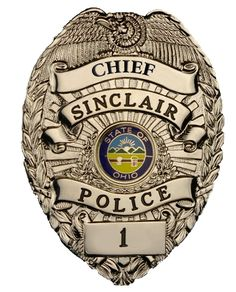 US State of Ohio, City of Sinclair Police Department Chief Badge