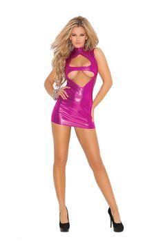 Keyhole Front Mini Dress