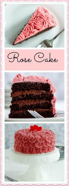 A chocolate raspberry rose cake is a decadent Valentine's Day dessert.