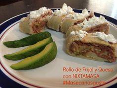Rollo Frijol y Queso. Ideal para Fiestas y Reuniones http://www.mejorandomihogar.com/2013/06/rollo-frijol-queso-maseca-nixtamasa.html #MasecaNosGusta #ad