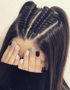 44 Ideas de Peinados Juveniles que te Encantarán Baddie Hairstyles, Box Braids Hairstyles, Pretty Hairstyles, Girl Hairstyles, Updo Hairstyle, Long Hair Braided Hairstyles, Updo Curly, Hair Ponytail, Relaxed Hairstyles