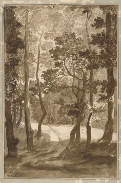 Nicolas Poussin - Sentiero per la radura di una foresta