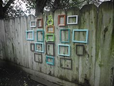 Wall Gallery Frame Set Rustic Shabby Chic Distressed Collection Custom Upcycled Vintage Frames You Pick the Color. $149.99, via Etsy.