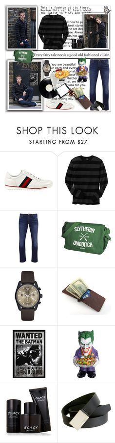 """old fashioned villian"" by sasane ❤ liked on Polyvore featuring Gucci, Gap, Nudie Jeans Co., Emporio Armani, Kenneth Cole, Morgan, Billabong, men's fashion and menswear"