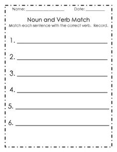 Singular and Plural Nouns and Verbs Matching Center Singular And Plural Nouns, Possessive Nouns, Nouns And Verbs, Sentence Strips, Correct Sentence, Upper And Lowercase Letters, Kids Math Worksheets, Teacher Tools, Writing Workshop