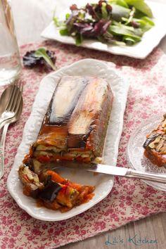 Terrine aux légumes du soleil (poivron, courgette, aubergine)                                                                                                                                                                                 Plus
