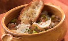 Onion, Pancetta and Wisconsin Parmesan Cheese Soup