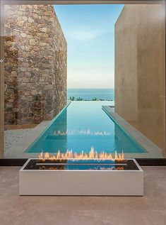 #pool #piscina #villaconpiscina Patio Design, Exterior Design, Garden Design, Backyard Designs, Chair Design, Moderne Pools, Luxury Pools, Luxury Resorts, Beautiful Pools