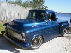 1956 Chevrolet 1/2 Ton Pickup 350/300 HP, Automatic at Mecum Auctions Year	1956 Make	Chevrolet Model	1/2 Ton Body	Pickup Engine	350/300 HP Trans	Automatic Color	Blue Interior	Grey Web No. FL0114-173105  INV No. 125050