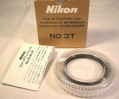 Mint Genuine Nikon Close Up Filter Attachment Lens No. 3T 52mm NR #Nikon