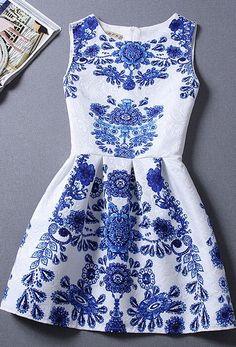 Porcelain printed dress
