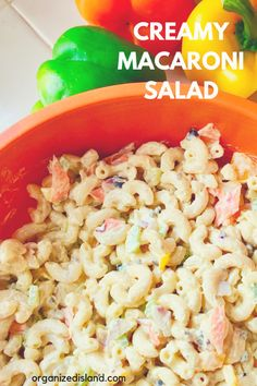 This easy and creamy macaroni salad is my favorite version of the classic macaro. This easy and creamy macaroni salad is my favorite version of the classic macaroni salad. Creamy and sweet and easy to make. Summer Salads With Fruit, Summer Pasta Salad, Summer Salad Recipes, Easy Salad Recipes, Side Dish Recipes, Soup Recipes, Dinner Recipes, Cooking Recipes, Pasta Recipes