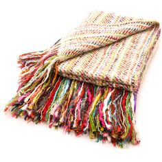 Colorful Throw Blankets Pleasing Collier Campbell Blankets Colorful Pompom Fringe Throw  Blankets Decorating Design