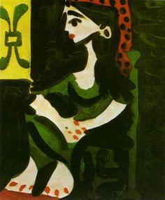 Pablo Picasso - Jacqueline II, 1959★ ♥ ♡༺✿ ☾♡ ♥ ♫ La-la-la Bonne vie ♪ ♥❀ ♢♦ ♡ ❊ ** Have a Nice Day! ** ❊ ღ‿ ❀♥ ~ Mon 15th June 2015 ~ ❤♡༻ ☆༺❀ .•` ✿⊱ ♡༻ ღ☀ᴀ ρᴇᴀcᴇғυʟ ρᴀʀᴀᴅısᴇ¸.•` ✿⊱╮ ♡ ❊