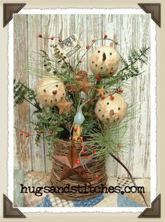 9049 - Let It Snow! ty:  do this arrangement in a rusty tin can