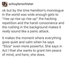 "the entire monologue you can literally feel his panic building until you get to ""Eliza. (that's the sound of my heart breaking.) and then he gets all quiet and relaxed. honestly insane storytelling using just vocal emphasis. Alexander Hamilton, Hamilton Lin Manuel Miranda, Aaron Burr, Nervous Breakdown, Hamilton Musical, What Is Your Name, Dear Evan Hansen, Founding Fathers, My Tumblr"