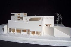 Le Corbusier, Villa Citrohan. 1920s Cubist Architecture, Presentation Example, Richard Meier, Site Analysis, Arch Model, Amazing Buildings, Architectural Models, Le Corbusier, Doll Houses