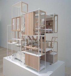 hierarchy design architecture model sou fujimoto: house NA model at the museum of contemporary art tokyo, japan image designboom Sou Fujimoto, Architecture Model Making, Wood Architecture, Architecture Magazines, Architecture Sketchbook, Classical Architecture, Ancient Architecture, Sustainable Architecture, Arch Model