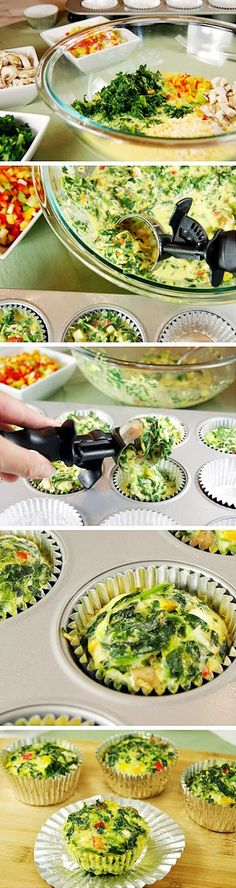 cookglee recipe pictures: Individual Veggie Quiche Cups To-Go(Baking Treats Breakfast Recipes) Vegetarian Recipes, Cooking Recipes, Healthy Recipes, Free Recipes, Easy Recipes, Muffin Recipes, Quiche Recipes, Delicious Recipes, Quiche Cups