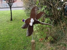 Hand made  pheasant #whirligig wind  spinner #garden #ornament vintage retro styl,  View more on the LINK: http://www.zeppy.io/product/gb/2/152293675745/