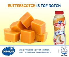 The fastest running #flavour till date is available and ready to be bought by you! #FlavouredMilk #Butterscotch