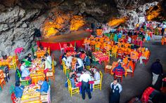 You Can Eat Tacos in a Colorful Volcanic Cave in Mexico | Travel + Leisure | Bloglovin'