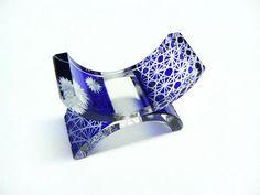 retro blue glass hashioki