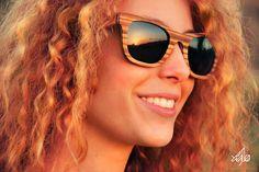 Xylo eyewear Handcrafted wooden eyewear, craving for sun. Ν, Ε] Syros island / Cyclades / Greece Wooden Sunglasses, Sunglasses Women, Fashion Books, Visual Identity, Eyewear, Greek, My Style, Womens Fashion, Model
