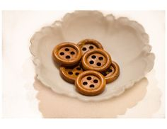 Huge brown wooden round buttons six vintage by FriendlyWrenJewelry  SALE:  COUPON CODE COLUMBUS15 FOR 15% OFF