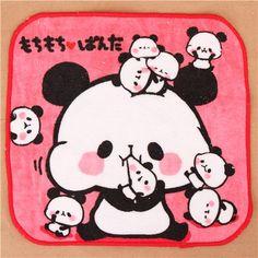 pink panda bear family towel from Japan