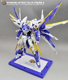 GUNDAM GUY: MG 1/100 Gundam Astray Blue Frame S + Gundam Astray Noir - Customized Build