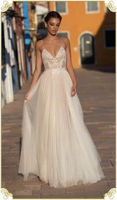 Elegant long wedding dress for the demanding women.Every bride-to-be deserves to. - Elegant long wedding dress for the demanding women.Every bride-to-be deserves to… – - Spaghetti Strap Wedding Dress, Wedding Dresses With Straps, Wedding Dresses 2018, Cheap Wedding Dress, Prom Dresses, Perfect Wedding Dress, Designer Wedding Dresses, Wedding Dresses For Guests, Delicate Wedding Dress