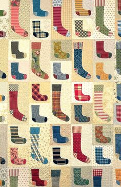 Lost Socks quilt pattern by Black Mountain Needleworks. Pure fun with fabric!