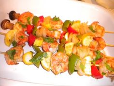 Grilled shrimp kabobs Recipe