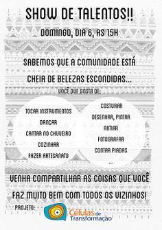 Ação empreendia em Santo André pelo projeto Células da Transformação em parceria com as gsas 2014 Inês Fernandes e Clara Seguro.