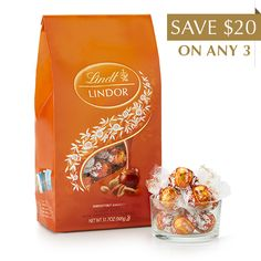 Peanut Butter Chocolate LINDOR Truffles 75-pc Bag | Lindt Chocolate  I want to try these :)